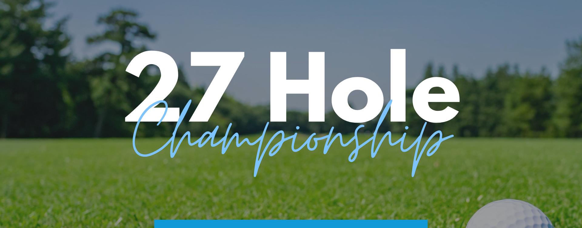 Diamond Woods 2 Person Team 27 Hole Championship!